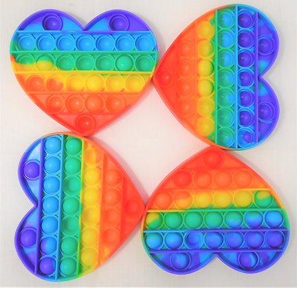 Fidget Toy -  Bubble Sensory Heart Rainbow