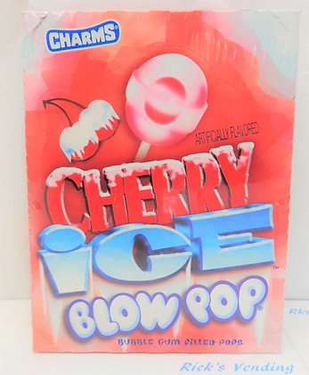 Charms Cherry Ice Blow Pops Suckers 48 Ct.