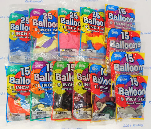 "Balloons Assorted Packs 9"" - 11"""
