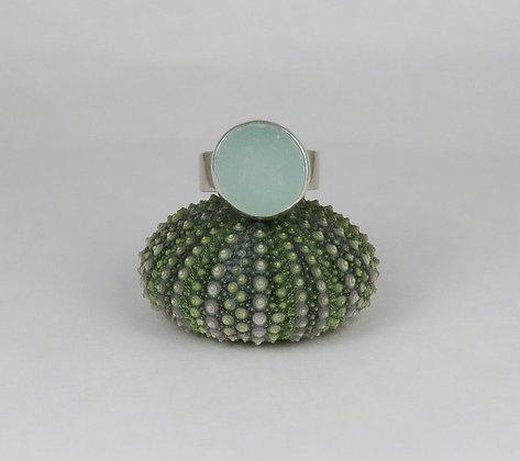 605. Seafoam Sea Glass Ring
