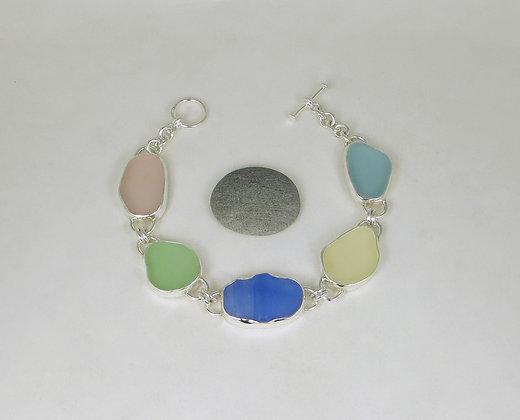 918. Pastel Sea Glass Bracelet