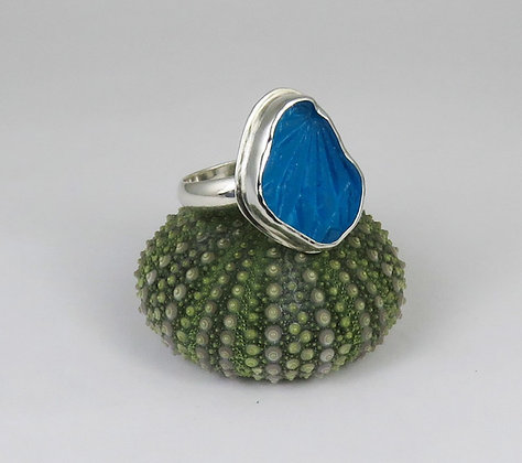 645. Turquoise Sea Glass Ring