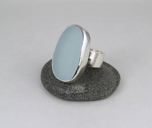 652. Seafoam Sea Glass Ring