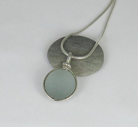 507. Gray Sea Glass Pendant