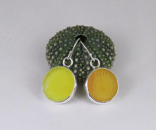 113. UV Ohajiki Sea Glass Earrings