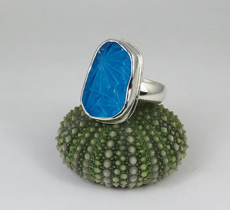 641. Turquoise Sea Glass Ring