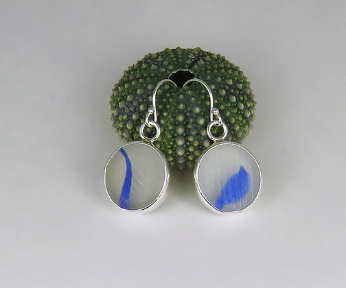 134. Ohajiki Sea Glass Earrings