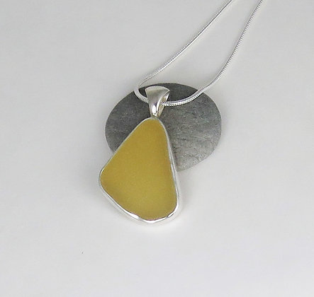 523. Yellow Sea Glass Pendant