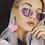 Thumbnail: Love Heart Pom Pom Earrings - Baby Pink