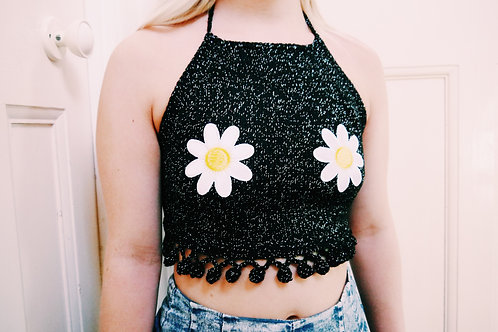 Knitted Daisy Halter Top