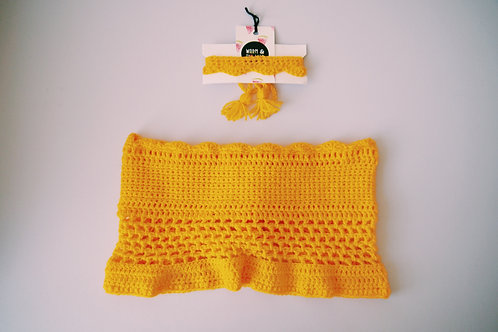 Crochet Bardot Matching Choker