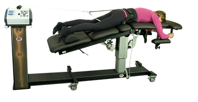 Patient in prone set up position