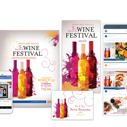 Fundraising marketing materials concepting and Design