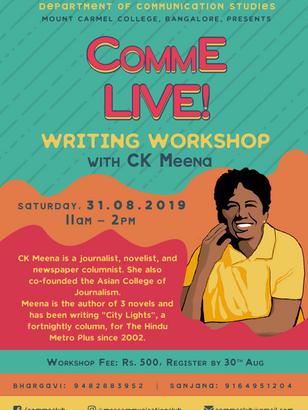 CK Meena Workshop 2019 Poster