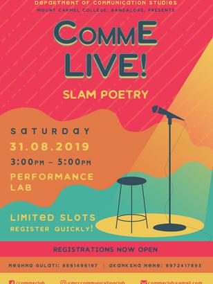 Slam Poetry 2019 Poster