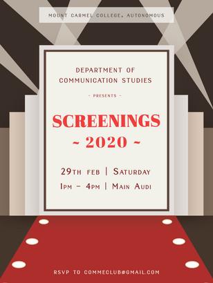 Screenings Poster