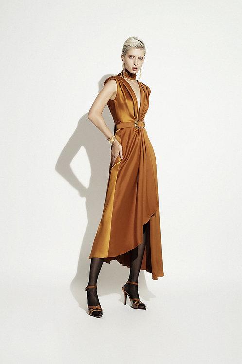 Vestido Midi Asimétrico