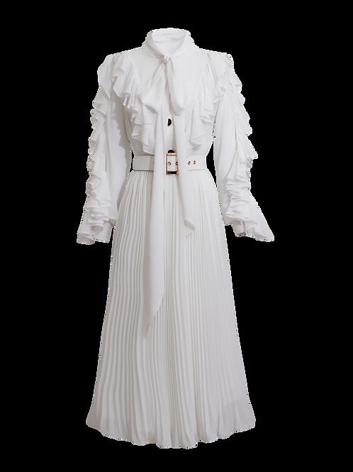 Vestido Midi Camisero Blanco