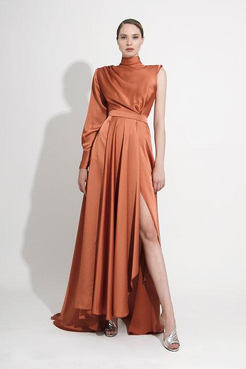 Vestido Largo Asimétrico