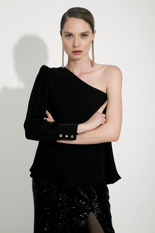Blusa Simétrica Negra