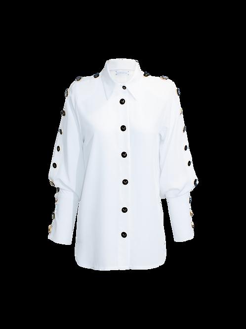 Blusa Camisera Blanca
