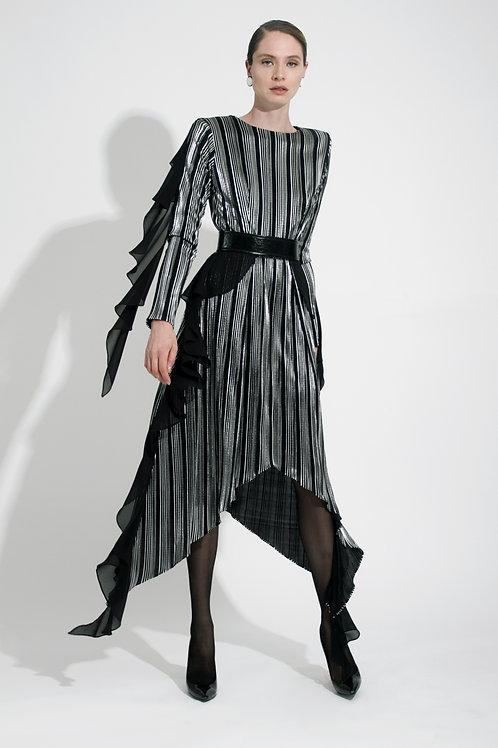 Vestido Midi Metálico