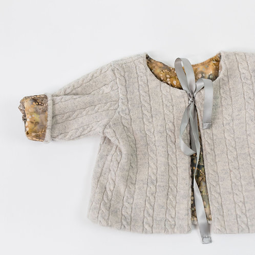 Wool Jacket Cable Design - Oatmeal