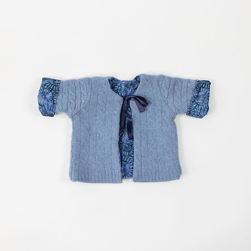 Wool Jacket Cable Design - Soft Blue