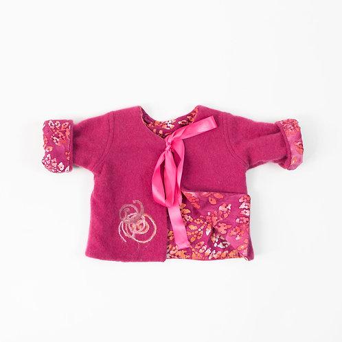 Soft Cashmere Embellished Jacket - Pink