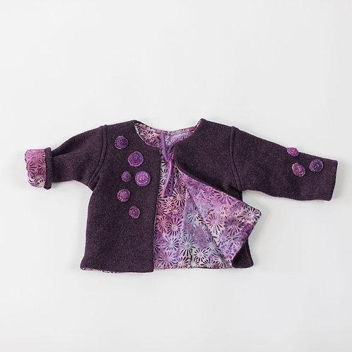Wool Embellished Jacket - Plum