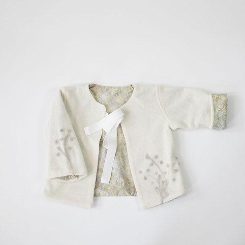 Cashmere Embellished Jacket - Soft White