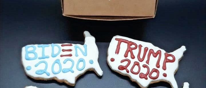 Trump/Biden Dog Cookie Box