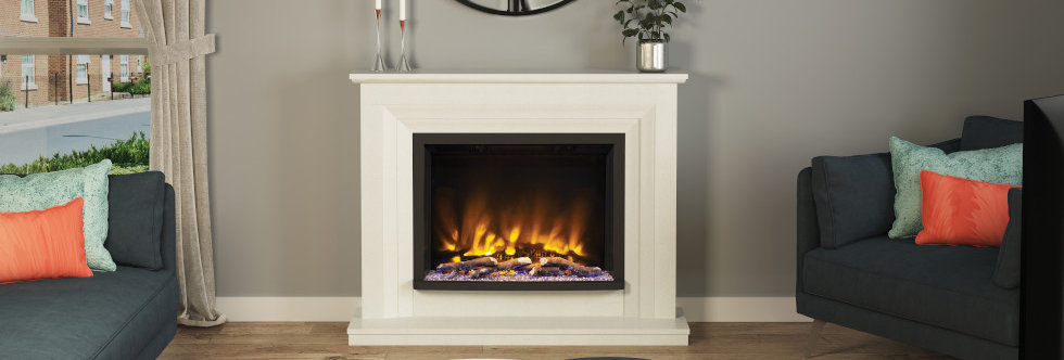 Pryzm Cabrina Electric Fireplace Suite