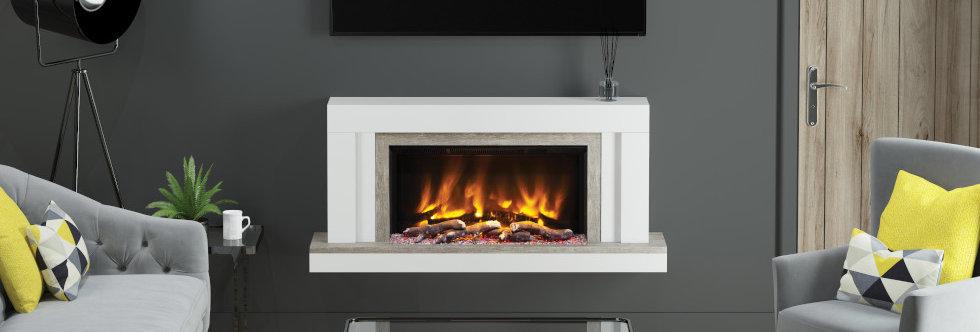 Pryzm Vardo Electric Fireplace Suite