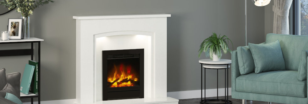 """Elgin & Hall 16"""" Beam Complete Front Electric Fire"""
