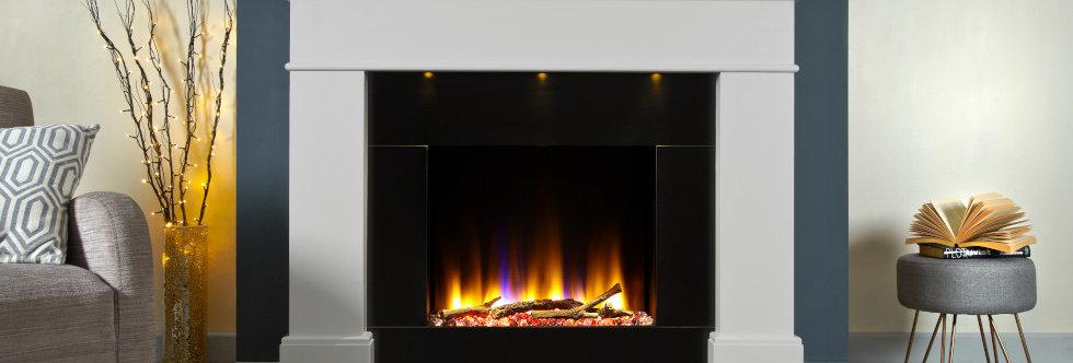 Celsi Ultiflame Adour Asencio Electric Fireplace Suite