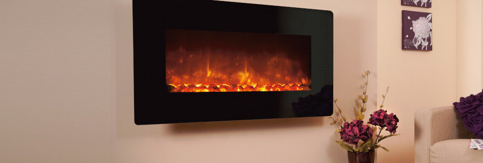 Celsi E-XD Black Glass Electric Fire