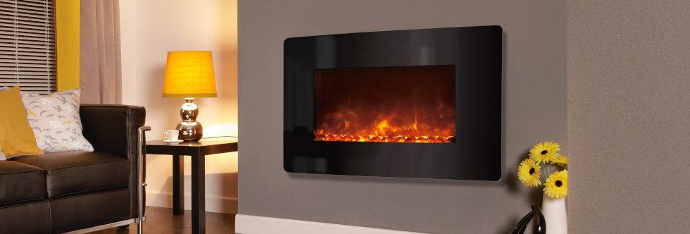 Celsi E-XD Black Glass Electric Fire