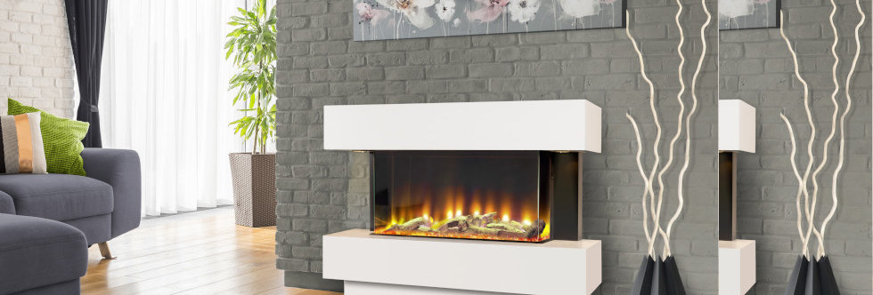 Celsi Electriflame VR Carino Illumia Electric Fireplace Suite