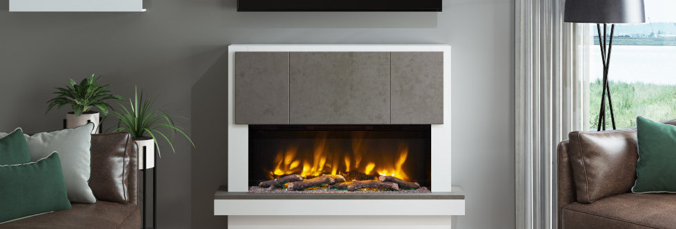 Pryzm Caselli Electric Fireplace Suite