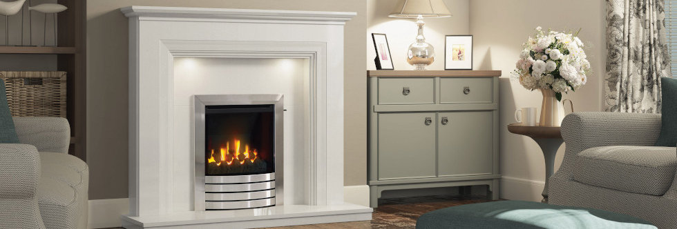 Elgin &  Hall HE Mid-Depth Complete Front Gas Fire