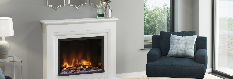 Pryzm Velino Electric Fireplace Suite