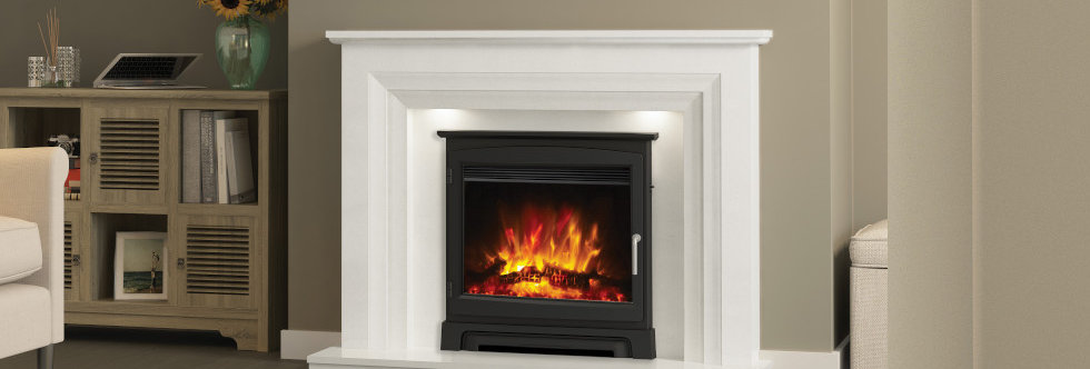 """Elgin & Hall 22"""" Beam Cast Stove Front Electric Fire"""