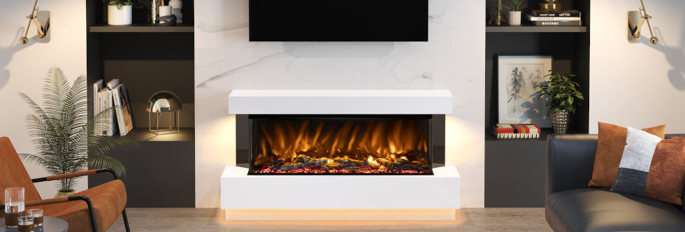 Pryzm Evento Electric Fireplace Suite