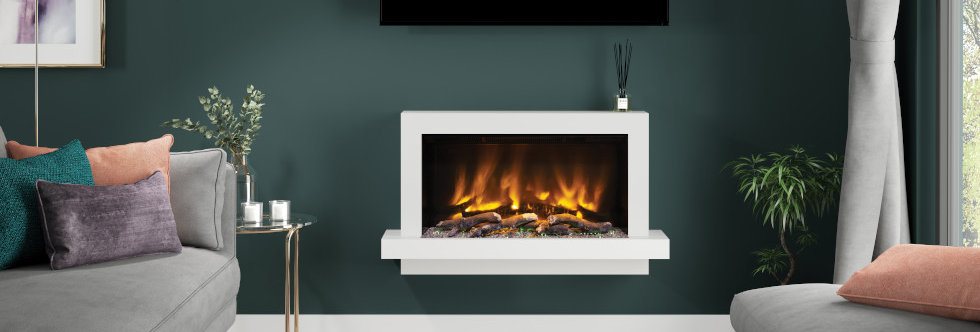 Pryzm Huxton Electric Fireplace Suite