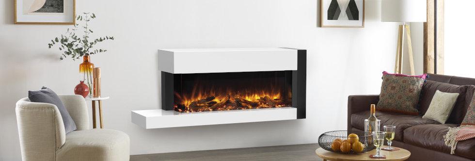 Gazco eReflex 110W Trento Electric Fireplace Suite