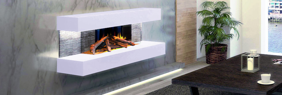 Evonicfires Compton 2 Electric Fireplace Suite