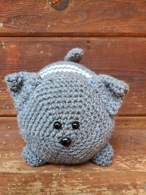 Grey Crochet Kitty