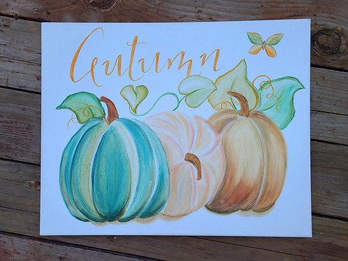 Autumn Pumpkin Painting