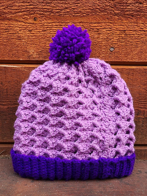 Purple Crochet Hat